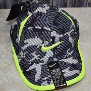 Nike Infant Hat Gray camo w/ Neon Trim Swoosh New